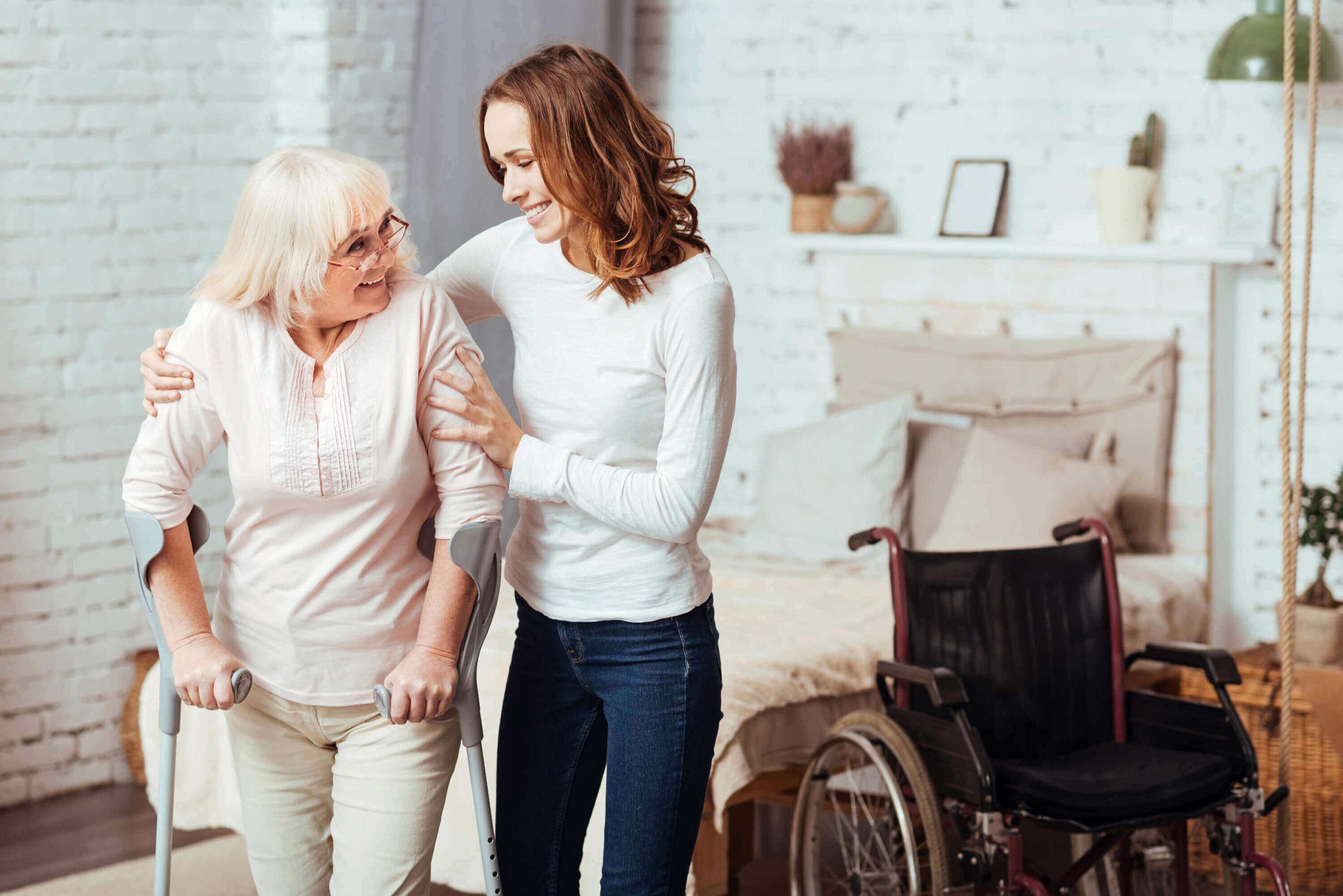 Pflege und Fuersorge zu Hause